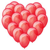 Red balloons heart. Stock Image
