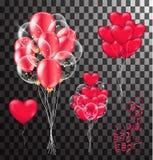 Red balloons, heart balloons transparent banner template, backgr. Ound. vector illustration vector illustration