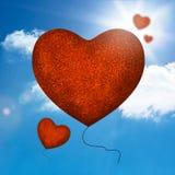 Red balloons heart shape Royalty Free Stock Photos