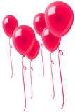 Red-balloons-isolated Stock Photos