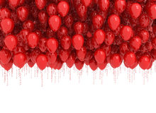 Red balloons isolated on white. Background of red balloons isolated on white Royalty Free Stock Image