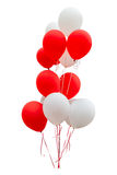 Red balloons isolated on white background with clipping path. Royalty Free Stock Photo