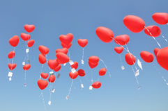 Red balloons Royalty Free Stock Photo