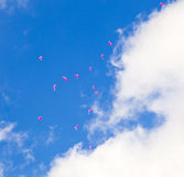 Red balloons with the messages Royalty Free Stock Photography