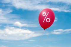 Red balloons for promotion Stock Photos