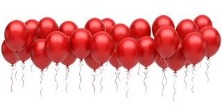 Red balloons. On white background Stock Image