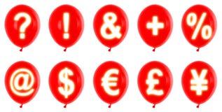 Red balloons symbols Royalty Free Stock Photo