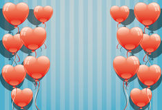 Red balloons. Vector banner for your text. Red balloons Royalty Free Stock Images