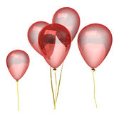 Red balloons. On white background Stock Photo