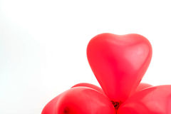 Red balloons. On white background Stock Images
