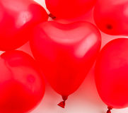 Red balloons. On white background Stock Photography