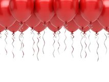 Red Balloons. On white background Royalty Free Stock Photos