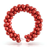 Red balloons wreath. Isolated on white Royalty Free Stock Photos