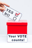 Ballot box and decision concepy Royalty Free Stock Image