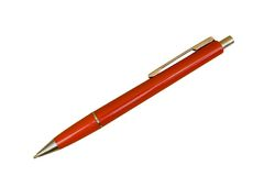Red Ballpoint Pen. Isolated, Two Pathes included Royalty Free Stock Image