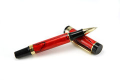 Red ballpoint pen Stock Images