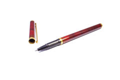 Red ballpoint pen royalty free stock photography