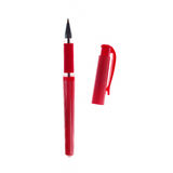 Red ballpoint pen. Isolated on white background Royalty Free Stock Photos
