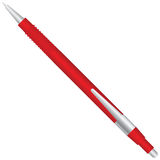 Red ballpoint pen Stock Photo