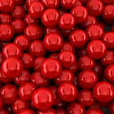 Red balls background (3d render). The Red balls background (3d render Stock Photos