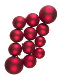 Red balls for Christmas trees Stock Images