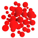 Red balls. 3d red volumetric sphere balls background Stock Photo