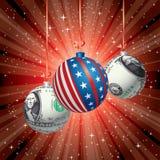 Red balls dollar Stock Photo