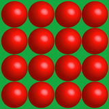 Red Balls Holiday Background. Illustration of a series of 16 3-D type red balls on a green background. Extra large size for you at 17x17 Stock Photos