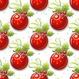Red balls seamless background Stock Photography