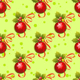 Red balls seamless pattern Stock Photo