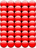 Red balls texture vector Stock Photos
