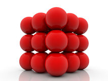 Red balls on white Royalty Free Stock Photography