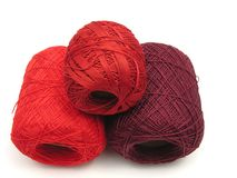 Red balls of wool Royalty Free Stock Photo