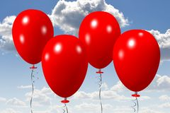 Red baloons... Royalty Free Stock Photography
