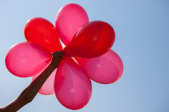 Red baloons. Over sky background Stock Image