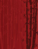 Red bamboo background Royalty Free Stock Photo
