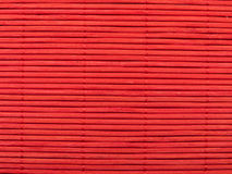 Red bamboo background, horizontal lines Royalty Free Stock Images