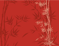 Red bamboo background Royalty Free Stock Images