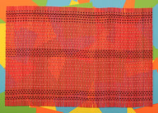 Red bamboo mat Royalty Free Stock Image