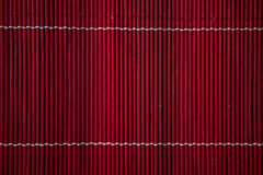 Red bamboo texture background; Asian natural pattern design Stock Photography