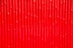 Red  bamboo wall Stock Photos