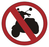 Red ban with moped Stock Photography
