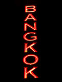 Red Bangkok sign Royalty Free Stock Photography
