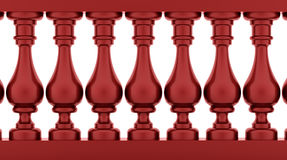 Red banister rendered Royalty Free Stock Photos