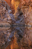 Red Bank Gorge Reflected. The Red Bank Gorge in the West McDonnel Ranges in Australia Stock Images