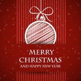 Red banned christmas card 2 Royalty Free Stock Images