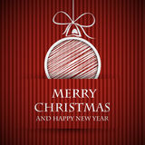 Red banned christmas card Royalty Free Stock Photography