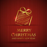 Red banned christmas card Royalty Free Stock Photo