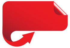 Red banner Royalty Free Stock Photos