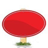 Red banner. Empty red banner, isolated object over white background Stock Photography